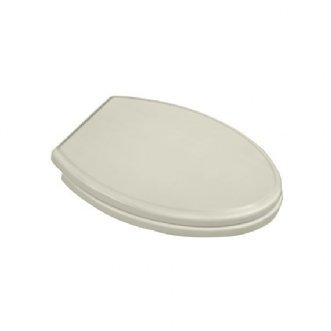 American Standard 5215.110.222 Town Square Luxury Round Front Toilet Seat, Linen
