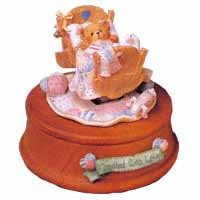 Cherished Teddies ''Baby In Cradle''(Musical)--Brahms' Lullaby