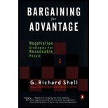 img - for Bargaining for Advantage - Negotiation Strategies for Reasonable People (99) by Shell, G Richard [Mass Market Paperback (2000)] book / textbook / text book