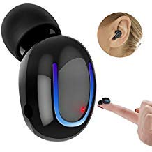 Mini Bluetooth Earbud, Famolay Wireless Headphone Car Headset USB Charger V4.1 Hnads Free Invisible in-Ear Sport Earphone Earpiece Headset with Microphone for iPhone Smartphones Android (1 pcs) Black