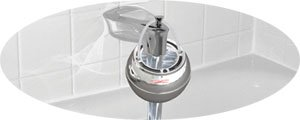 Crystal Quest CQE-SP-00809 Chrome Bath Ball Filter