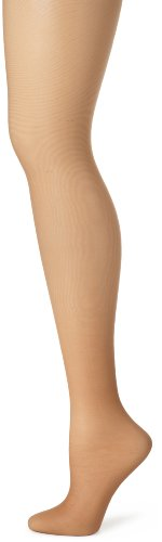 Hanes Women's Control Top Sheer Toe Silk Reflections Panty Hose, Barely There, A/B