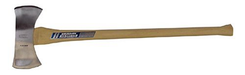 Bit Ax Handle (Vaughan ZDB3-1/2 3 1/2-Pound Sub-Zero Double Bit- Michigan Pattern Axe, White Hickory Handle.)