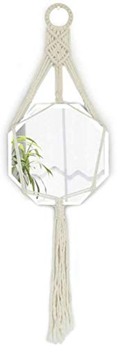 Gflyme Makeup Mirrors Nordic Hanging Mirror | Circle Wall Mounted Vanity Makeup - Plane Mirrors Bathroom Beveled Edge