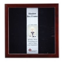 Lawrence Frames 790112 Espresso Wood Shadow Box Picture Frame, 12 by 12-Inch