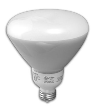 TCP 1R401935K CFL Covered R40 - 85 Watt Equivalent (only 19w used!) Bright White (3500K) Medium Base Flood Light Bulb - Wet Location Rated