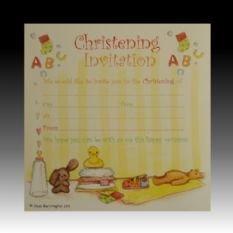 Girls/Boys Christening Invitations - Pack of 10