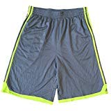 adidas Boys Core Performance Athletic Mesh Active Shorts (Large, Vivid Grey/Solar -