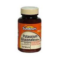 Sundown Naturals gluconate de potassium, 595 mg, Comprimés, 100 ct.