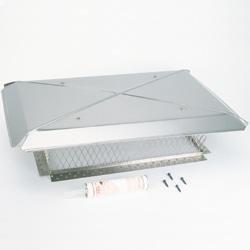 Gelco 13240 17インチ×41インチモデルD Gelcoステンレス鋼マルチ煙道煙突トップ8インチ高3/4インチメッシュ  B002VFBTDE