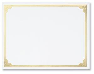 certificate border classic gold foil 50 per box ct1183 160gsm