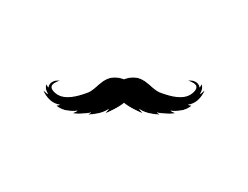 ND193 The Gunslinger Mustache Style Decal Sticker | 5-Inches By 1.1-Inches | Premium Quality Black Vinyl -