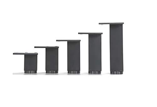 Gimax 4Pcs/Lot 3838MM Square Black Aluminum Furniture Adjustable Cabinet Sofa Chair Leg Feet - (Color: H400MM)