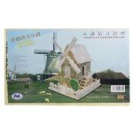 Exquisite Wooden Puzzle Toy Decoration for Children-Large Size/Country Windmill