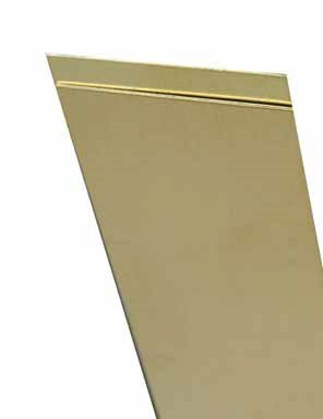 K & S PRECISION METALS 8244 244 Metal Strip, 0.032 in T Brass ()
