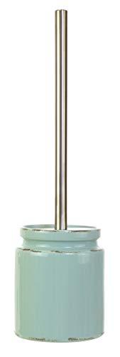 Kiera Grace HO85271-7INT kieragrace Muskoka Vinson Toilet Brush - Vintage Aqua Ceramic Bath ()