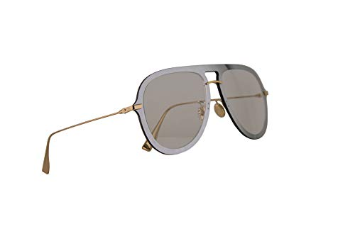 Christian Dior DiorUltime1 Sunglasses Silver Green w/Transparent Grey Lens 57mm VGVA9 Diorultime 1 Ultime1