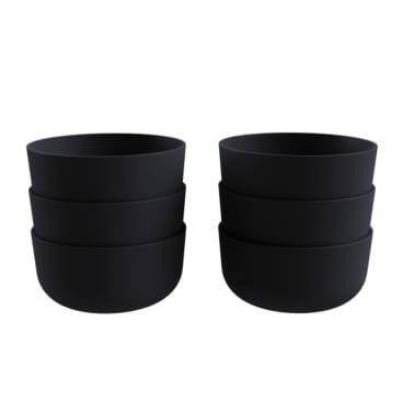 COZA DESIGN- Cozy Bowl Set- 12 oz (Set of 6, Black) ()