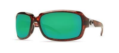Costa Del Mar Isabela Sunglasses, Tortoise, Green Mirror 400G Lens ()