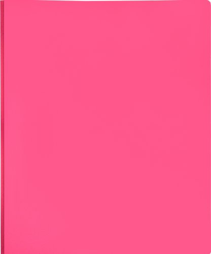 Lion 2-Pocket Plastic Folder with Fasteners, Hot Pink, Pack of 4 (92310-PK-4P)