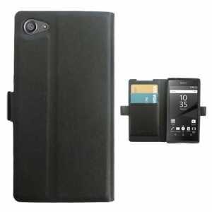 Amazon.com: leather flip Case Carcasa Sony Xperia Z5 Compact ...