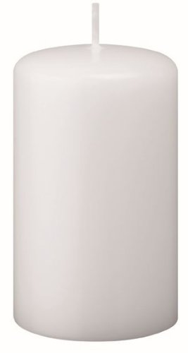 Candele Pilastro, Candelotto, Candele Cilindriche bianco 12 x 5 cm, 12 Pezzi Kopschitz Candela Made in Germania