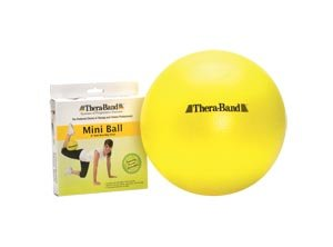 Hygenic/Theraband 23085 PRO Series SCP Exercise Mini Ball, Retail Packaged, 9'' Diameter, Yellow (Pack of 24)