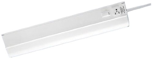 Westek FA318HBWCC Fluorescent Under Cabinet Light with Outlet, 18 ...