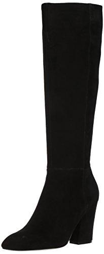 Nine West Women's Shearling Suede Knee High Boot, Black Suede, 9 Medium US by Nine West