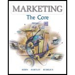 Marketing : The Core, Kerin, Roger A. and Hartley, Steven William, 007121478X