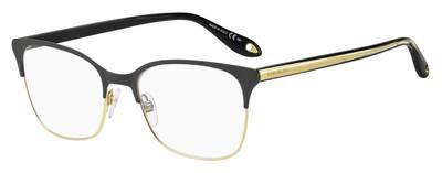 Eyeglasses Givenchy GV 0076 02M2 Black Gold / 00 Demo Lens 00 Gold Demo Lens