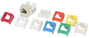 6 Pack Suttle CAT6 Jack-7 Bezels (Catalog Category: Installation Equipment / Wall Jacks/Inserts)