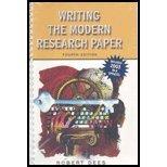 Writing the Modern Research Paper MLA Update, Dees, Robert, 0321216369