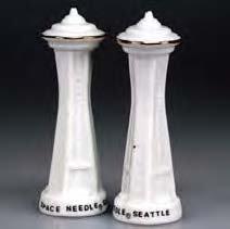 Souvenir Salt Pepper - (9 8/18) SM Seattle Salt & Pepper Space Needle Set Great Seattle Gift 3.75