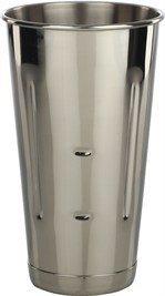 Libertyware Stainless Steel Malt Milkshake Ice Cream Mixer Mixing Cup, 30 oz.