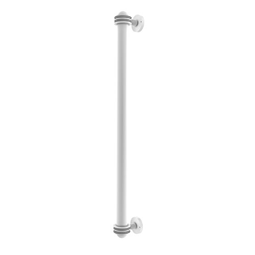 Allied Brass 402AD-RP-WHM 18 Inch Refrigerator Pull with Dotted Accents Matte White