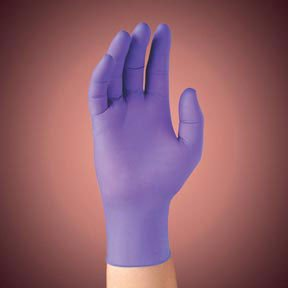 Kimberly-Clark Professional PURPLE NITRILE Exam Gloves, Beaded Cuff, Lined, X-Large, Purple