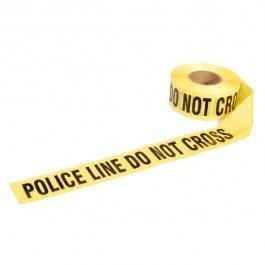 Presco LB31022Y11 ''POLICE LINE DO NOT CROSS'', Yellow, 8/Case
