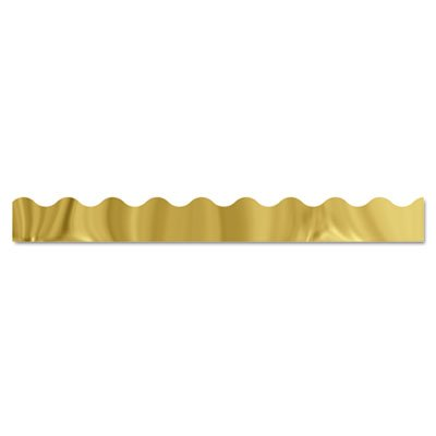 Terrific Trimmers Metallic Borders, Gold, 10 Strips, 2 1/4