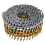 Wire Head Coil - 2-1/4 in. x 0.092 in. Full Round-Head Ring Shank Hot-Dipped Galvanized Wire Coil Siding Nails (3,600-Pack)