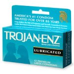 Trojan-ENZ Lubricated Latex Condoms - 12 ea