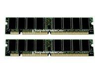 Kingston 2 GB Memory (2 x 1 GB), DIMM 168-pin, SDRAM, 133 MHz - Registered - ECC (297614) Category: RAM - Pin Registered Sdram Dimm 168