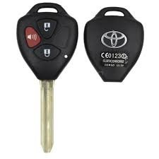 3 BUTTON REPLACEMENT REMOTE KEY SHELL UNCUT KEY BLANK FOR TOYOTA/SCION