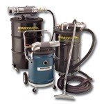 Nortech Complete 55 Gallon Static Conductive Vacuum Unit With 2'' Vacuum Hose,Tools & Dolly,Specs: 68 SCFM,3/4'' FNPT Air Inlet,15 HP,185 Vacuum Lift,163 SCFM Vacuum Flow,Uses N635 Filter,121 Lbs.