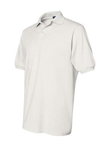 Jerzees Men's Spot Shield Short Sleeve Polo Sport Shirt, White 3X-Large