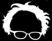 Bernie Sanders Laptop Logo White Decal Vinyl Sticker|Cars Trucks Vans Walls Laptop| White |5.5 x 4.5 in|LLI491 - Easy Throwback Costumes