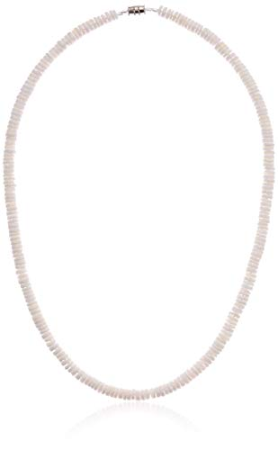 "Native Treasure - 18"" Smooth White Heishe Puka Shell Necklace - 5mm (3/16"") from Native Treasure"