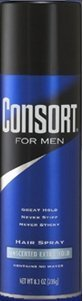 Consort For Men Hair Spray Unscented Extra Hold 8.30 oz (Pack of 12)