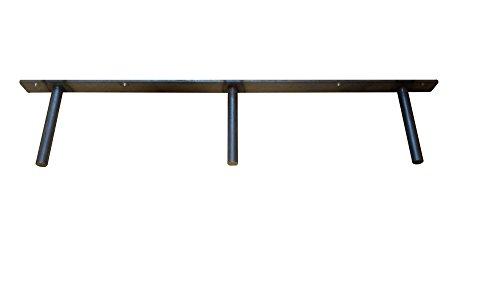 32'' Floating Shelf Heavy Duty Solid Steel Bracket- For 36'' + Shelves MADE IN THE USA! by Walnut Wood Works