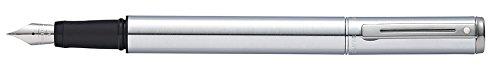 Sheaffer Award Brushed Chrome Fountain Pen with Medium Nib (E0919053) ()